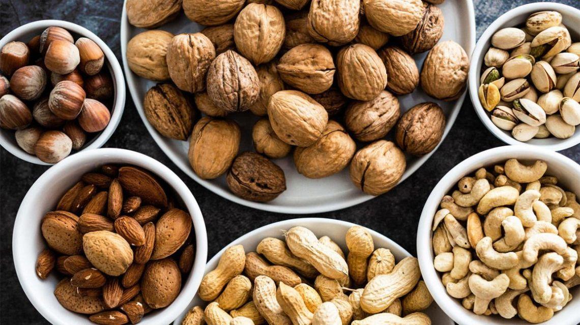 Nuts produktionslinje och förpackning